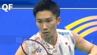 【Video】Kento MOMOTA VS CHOU Tien Chen, tứ kết Giải vô địch cầu lông châu Á 2018