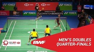 【Video】Mathias BOE・Carsten MOGENSEN VS GOH V Shem・TAN Wee Kiong, tứ kết YONEX Tất cả tuyển Anh mở 2018
