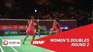 【Video】Kamilla Rytter JUHL・Christinna PEDERSEN VS DU Yue・LI Yinhui, vòng 16 YONEX Tất cả tuyển Anh mở 2018
