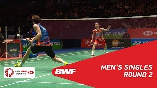 【Video】LEE Dong Keun VS LEE Chong Wei, vòng 16 YONEX Tất cả tuyển Anh mở 2018