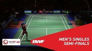 【Video】Kenta NISHIMOTO VS CHOU Tien Chen, bán kết YONEX German Open 2018