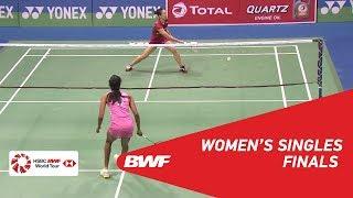 【Video】PUSARLA V. Sindhu VS Beiwen ZHANG, chung kết YONEX-SUNRISE DR. AKHILESH DAS GUPTA India Mở 2018