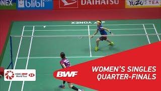【Video】TAI Tzu Ying VS SUNG Ji Hyun, tứ kết DAIHATSU Indonesia Masters 2018
