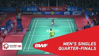 【Video】LEE Chong Wei VS Kantaphon WANGCHAROEN, tứ kết BLIBLI Indonesia Mở 2018