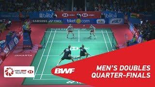【Video】Marcus Fernaldi GIDEON・Kevin Sanjaya SUKAMULJO VS Mads CONRAD-PETERSEN・Mads Pieler KOLDING, tứ kết BLIBLI Indonesia Mở 20