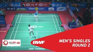 【Video】Anders ANTONSEN VS LEE Chong Wei, vòng 16 BLIBLI Indonesia Mở 2018
