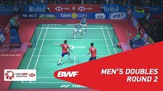 【Video】Marcus Fernaldi GIDEON・Kevin Sanjaya SUKAMULJO VS ONG Yew Sin・TEO Ee Yi, vòng 16 BLIBLI Indonesia Mở 2018
