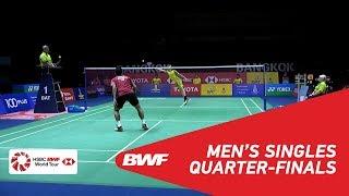 【Video】Tommy SUGIARTO VS Kantaphon WANGCHAROEN, tứ kết TOYOTA Thái Lan mở 2018