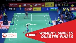 【Video】Akane YAMAGUCHI VS Beiwen ZHANG, tứ kết TOYOTA Thái Lan mở 2018