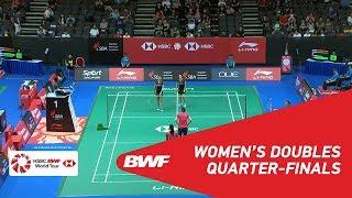 【Video】Jongkolphan KITITHARAKUL・Rawinda PRAJONGJAI VS TANG Jinhua・YU Xiaohan, tứ kết Singapore Open 2018