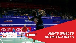 【Video】Anthony Sinisuka GINTING VS CHEN Long, tứ kết VICTOR China Open 2018