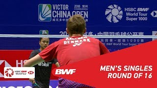 【Video】Viktor AXELSEN VS Anthony Sinisuka GINTING, vòng 16 VICTOR China Open 2018