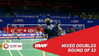 【Video】Satwiksairaj RANKIREDDY・Ashwini PONNAPPA VS Marcus ELLIS・Lauren SMITH, vòng 32 VICTOR China Open 2018