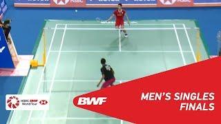 【Video】Tommy SUGIARTO VS CHOU Tien Chen, chung kết VICTOR Hàn Quốc mở 2018