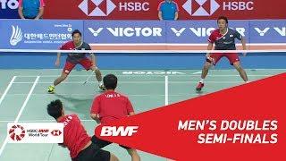 【Video】Hiroyuki ENDO・Yuta WATANABE VS CHOOI Kah Ming・LOW Juan Shen, bán kết VICTOR Hàn Quốc mở 2018