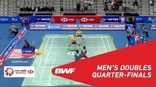【Video】Hiroyuki ENDO・Yuta WATANABE VS Aaron CHIA・Wooi Yik SOH, tứ kết VICTOR Hàn Quốc mở 2018