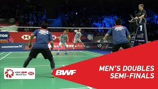 【Video】Marcus Fernaldi GIDEON・Kevin Sanjaya SUKAMULJO VS Mohammad AHSAN・Hendra SETIAWAN, bán kết DANISA Đan Mạch Mở 2018