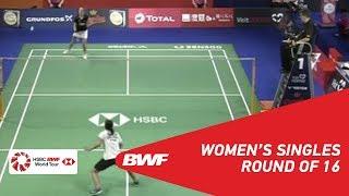 【Video】Gregoria Mariska TUNJUNG VS Mia BLICHFELDT, vòng 16 DANISA Đan Mạch Mở 2018