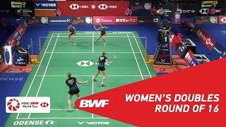 【Video】Yuki FUKUSHIMA・Sayaka HIROTA VS Maiken FRUERGAARD・Sara THYGESEN, vòng 16 DANISA Đan Mạch Mở 2018