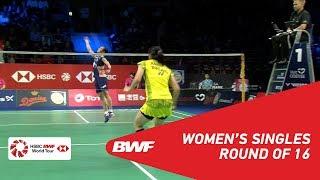 【Video】TAI Tzu Ying VS Busanan ONGBAMRUNGPHAN, vòng 16 DANISA Đan Mạch Mở 2018
