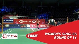 【Video】Saina NEHWAL VS Akane YAMAGUCHI, vòng 16 DANISA Đan Mạch Mở 2018