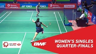 【Video】TAI Tzu Ying VS Saina NEHWAL, tứ kết YONEX French Open 2018