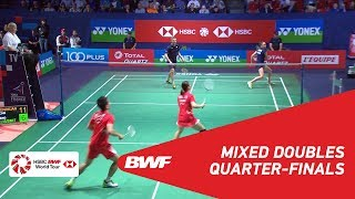 【Video】ZHENG Siwei・HUANG Yaqiong VS Marcus ELLIS・Lauren SMITH, tứ kết YONEX French Open 2018