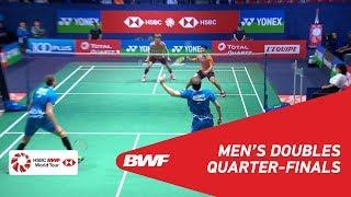 【Video】LEE Jhe-Huei・LEE Yang VS Vladimir IVANOV・Ivan SOZONOV, tứ kết YONEX French Open 2018