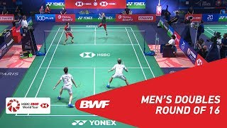 【Video】Marcus Fernaldi GIDEON・Kevin Sanjaya SUKAMULJO VS Hiroyuki ENDO・Yuta WATANABE, vòng 16 YONEX French Open 2018