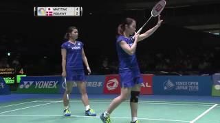 【Video】Christinna PEDERSEN・Kamilla Rytter JUHL VS Misaki MATSUTOMO・Ayaka TAKAHASHI, chung kết YONEX Mở Nhật Bản