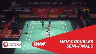 【Video】HE Jiting・TAN Qiang VS Mohammad AHSAN・Hendra SETIAWAN, bán kết Phúc Châu mở cửa năm 2018