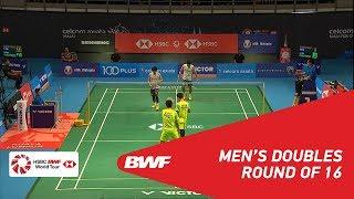 【Video】Takeshi KAMURA・Keigo SONODA VS Mohammad AHSAN・Hendra SETIAWAN, vòng 16 CELCOM AXIATA Malaysia Mở cửa năm 2018