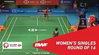 【Video】Saina NEHWAL VS Akane YAMAGUCHI, vòng 16 CELCOM AXIATA Malaysia Mở cửa năm 2018