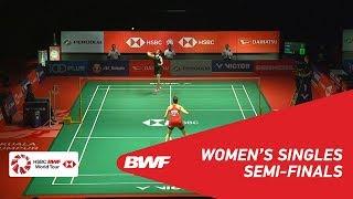 【Video】Carolina MARIN VS Saina NEHWAL, bán kết Thạc sĩ Malaysia PERODUA 2019