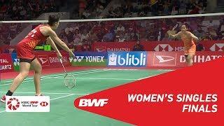 【Video】Saina NEHWAL VS Carolina MARIN, chung kết DAIHATSU Indonesia Masters 2019