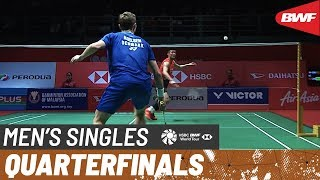 【Video】Viktor AXELSEN VS CHEN Long, tứ kết Thạc sĩ Malaysia PERODUA 2020