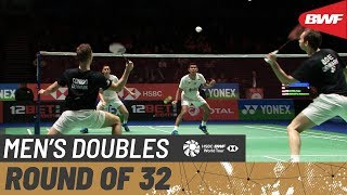 【Video】Fajar ALFIAN・Muhammad Rian ARDIANTO VS Mathias BOE・Mads CONRAD-PETERSEN, vòng 32 YONEX All England Open 2020