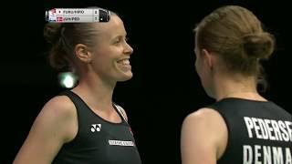【Video】Yuki FUKUSHIMA・Sayaka HIROTA VS Kamilla Rytter JUHL・Christinna PEDERSEN, bán kết TỔNG BWF Giải vô địch thế giới 2017
