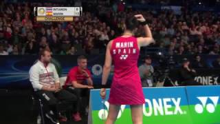 【Video】Ratchanok INTANON VS Carolina MARIN, tứ kết YONEX Toàn Anh Mở Rộng