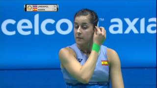 【Video】Nitchaon JINDAPOL VS Carolina MARIN, vòng 16 CELCOM AXIATA Malaysia Open