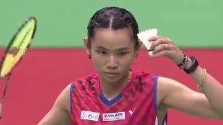 【Video】Nitchaon JINDAPOL VS TAI Tzu Ying, bán kết YONEX Mở Đài Bắc Trung Quốc